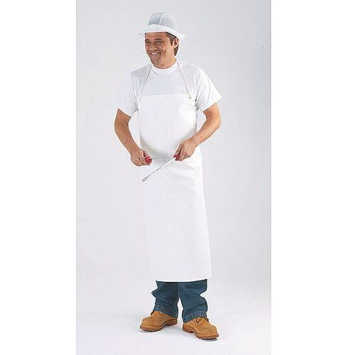 Pvc &Nylon Supported Aprons Bib Style White