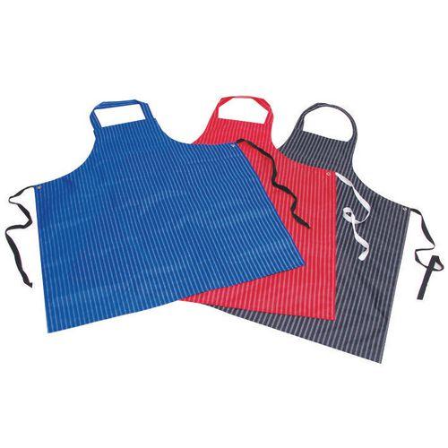 Pu &Nylon Polyester Twin Stripe Butchers Aprons Navy Blue