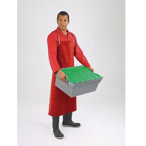 Heavyweight Rubber Aprons Bib Style Red