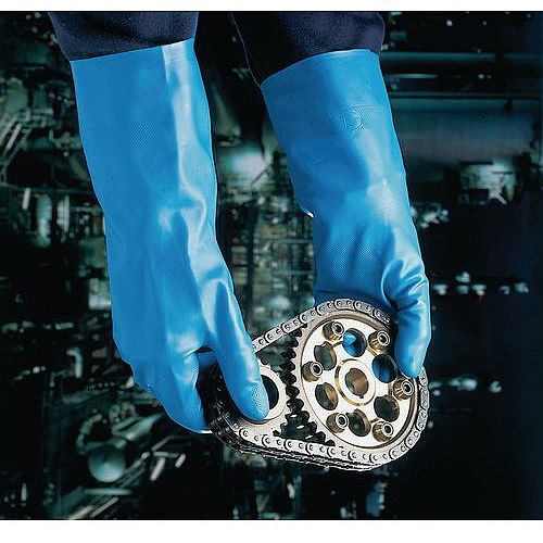 Blue Nitrile Gloves Gauntlets Size XL Pack of 12