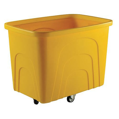 Robust Rim Container Truck Without Lid Yellow Castors In Diamond Pattern