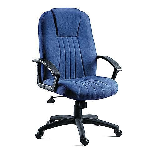 City Fabric Upholstered Executive Office Armchair Blue