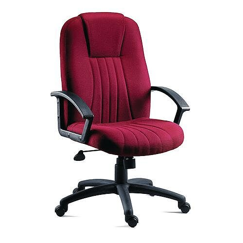 City Fabric Upholstered Executive Office Armchair Burgundy