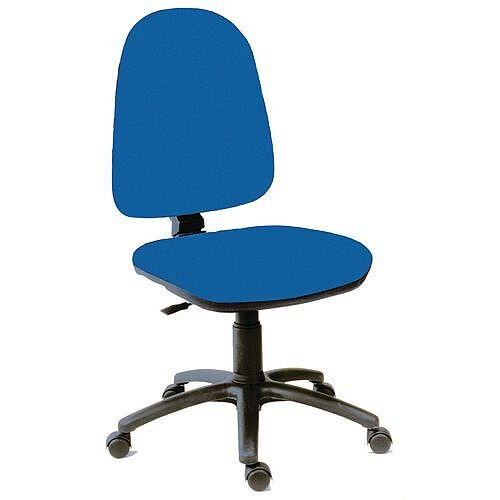 High Back Permanent Contact Back Task Operator Office Chair Blue
