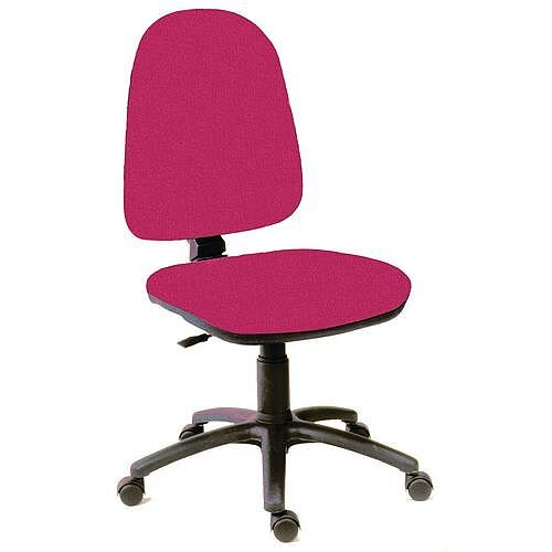 High Back Permanent Contact Back Task Operator Office Chair Burgundy