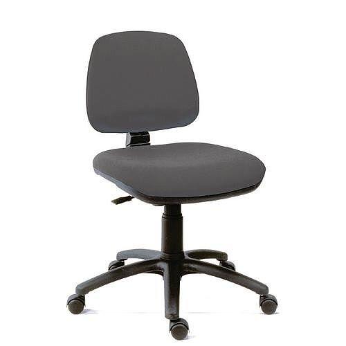 Ergoblaster Medium Back Fabric Upholstered Typist Office Chair Charcoal