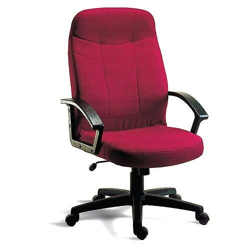Fabric Executive Office Chair Burgundy