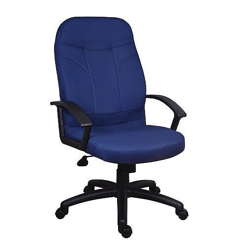 Fabric Executive Office Chair Blue
