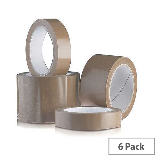Vinyl Tape Regular Pack 48mm Brown Pack of 6