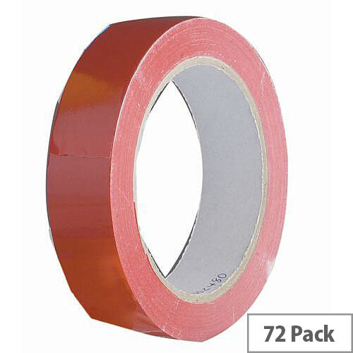 Vinyl Tape Bulk Pack 24mm Red Pack of 72