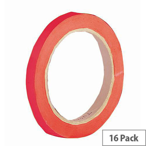 Vinyl Tape Regular Pack 9mm Red Pack of 16