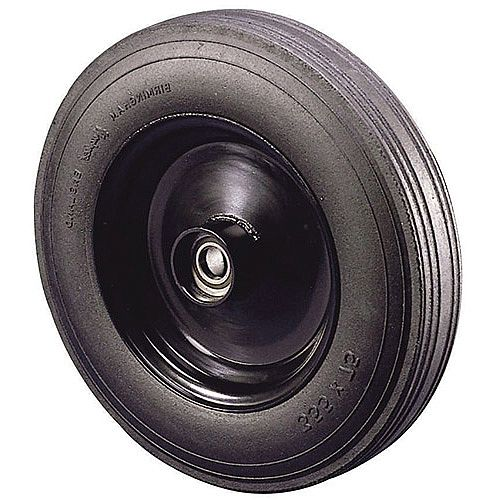 Pressed Steel Centre With Rubber Tyre Load Capacity 600kg Plain Wheel Diameter 405mm