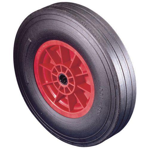 Polypropylene Centre With Rubber Tyre Load Capacity 350kg Plain Wheel Diameter 405mm