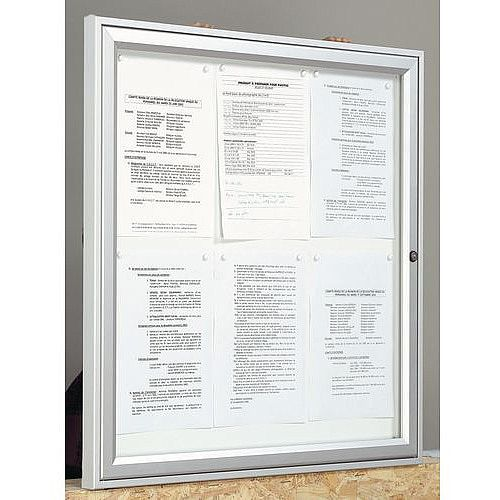 Outdoor Glazed Lockable Noticeboard With Magnetic Surface Holds 4 x A4 Sheets