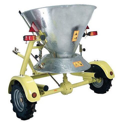 Ball Hitch Towing Large Area Salt Spreader 250Kg Capacity