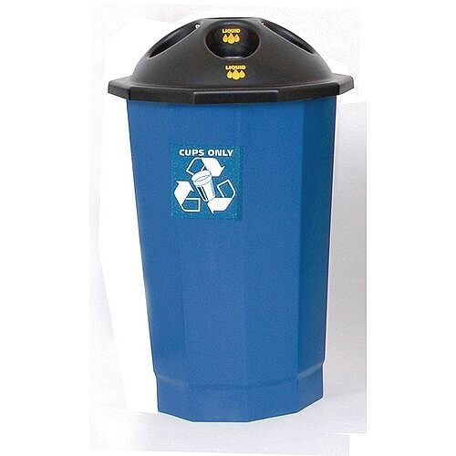 Recycling Bin Bank System Cup Bank Blue 75L