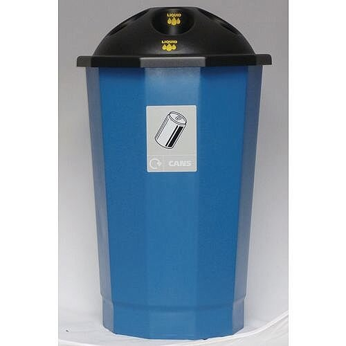 Recycling Bin Bank System Can Bank Blue 75L
