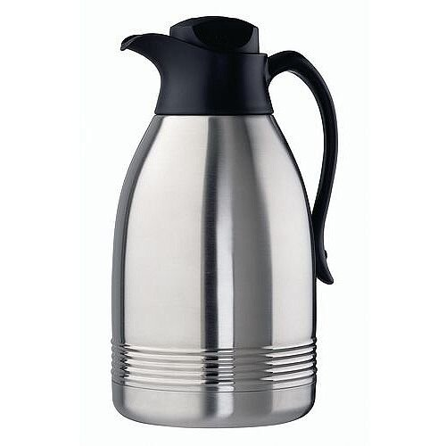 Thermal Carafe Vacuum Flask Stainless Steel Serving Jug Capacity 1.8L Pack of 2