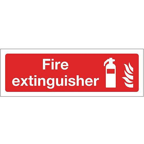 Self Adhesive Vinyl Fire Fighting Equipment Sign Fire Extinguisher