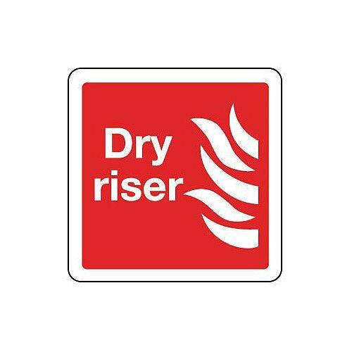 Self Adhesive Vinyl Dry Riser Sign