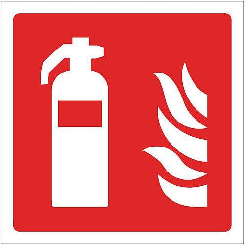 Self Adhesive Vinyl Fire Fighting Equipment Sign Extinguisher Pictorial