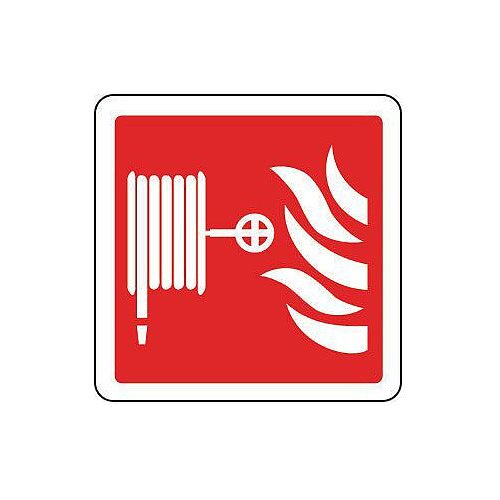 Self Adhesive Vinyl Fire Hose Reel Pictorial Sign