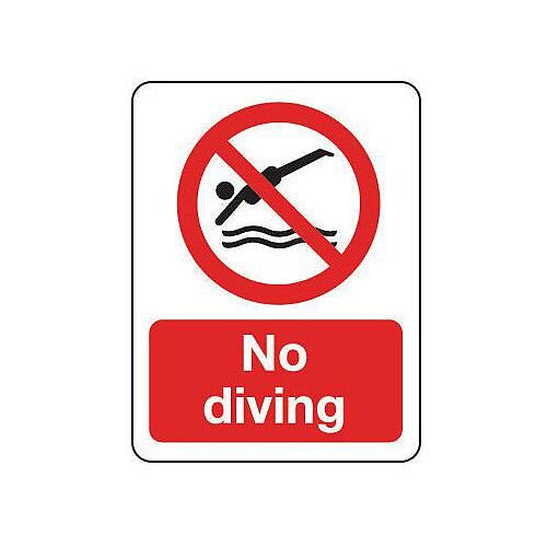 Self Adhesive Vinyl National Water Safety Sign No Diving