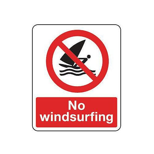 Self Adhesive Vinyl National Water Safety Sign No Windsurfing