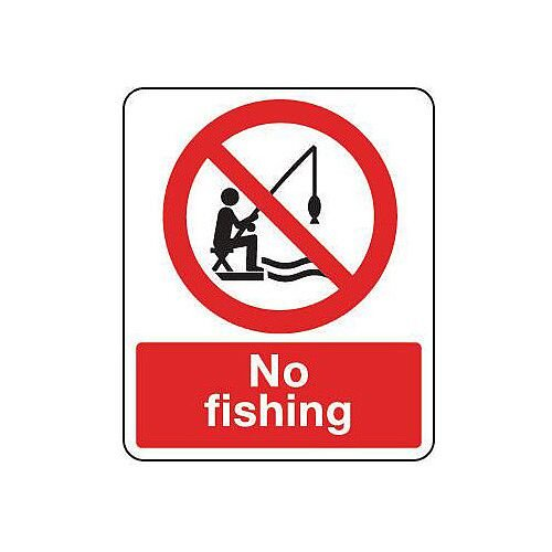 Self Adhesive Vinyl National Water Safety Sign No Fishing