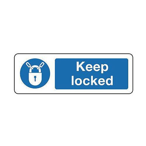 Self Adhesive Vinyl Keep Locked Sign