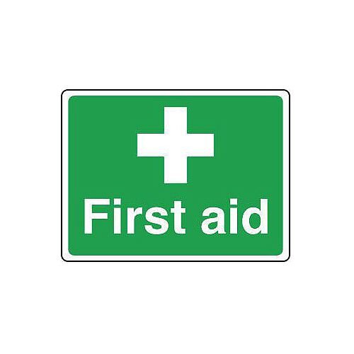 Self Adhesive Vinyl Safe Condition And First Aid Sign First Aid Sign Small