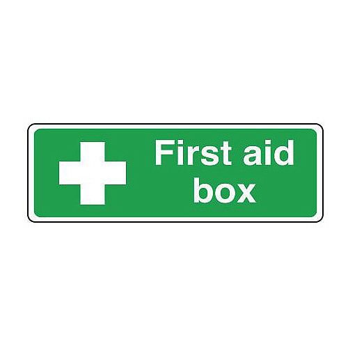 Self Adhesive Vinyl Safe Condition And First Aid Sign First Aid Box