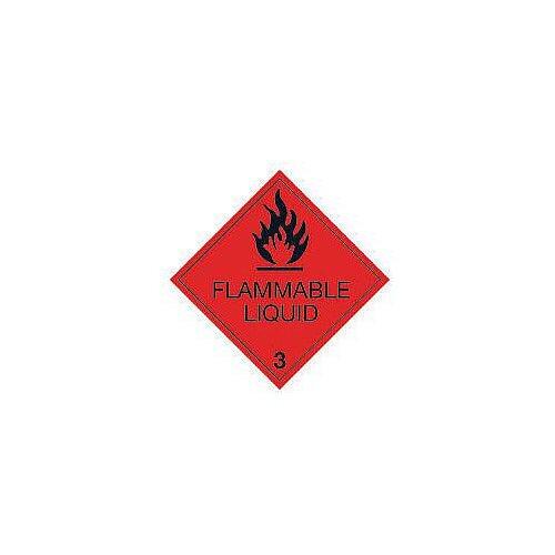 ADR RID IDGM IATA &ICAO hazardous substance sign label Flammable liquid HxW 100x100mm