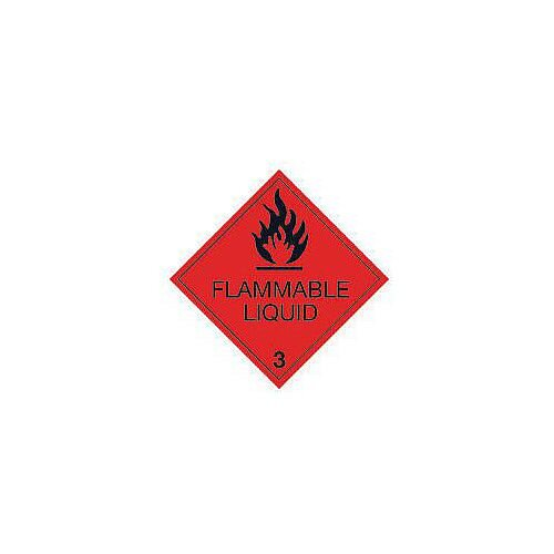 ADR RID IDGM IATA &ICAO Hazardous Substance Sign Label Flammable liquid HxW 300x300mm