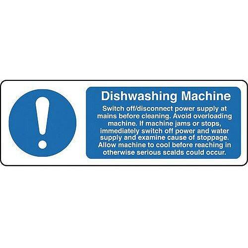 Self Adhesive Vinyl Food Processing And Hygiene Sign Dishwashing Machine