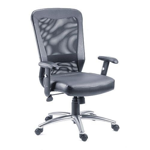 Leather And Mesh Office Chair
