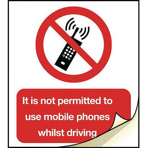 General Safety Labels No Mobile Phone Roll of 20
