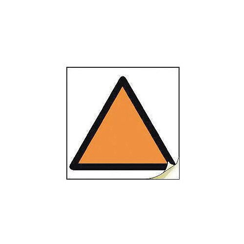 Hand Arm Vibration Safety Labels Orange Triangle Strip Of 100