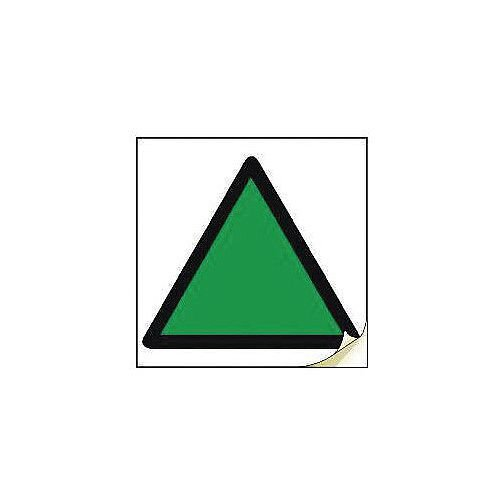 Hand Arm Vibration Safety Labels Green Triangle Strip Of 50