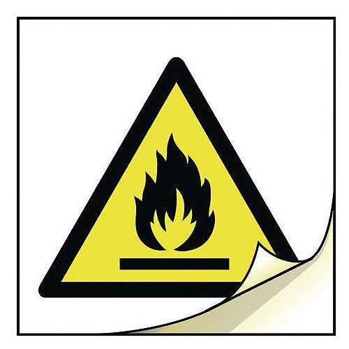 General Safety Labels Highly Flammable Roll of 20