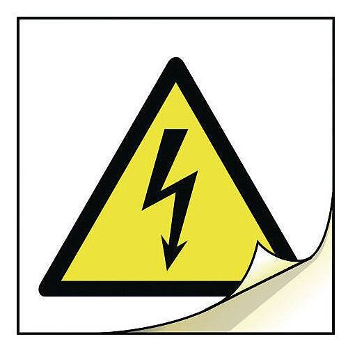 General Safety Labels Risk Of Electric Shock Roll of 20