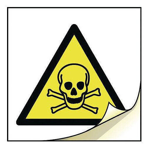 General Safety Labels Toxic Roll of 100