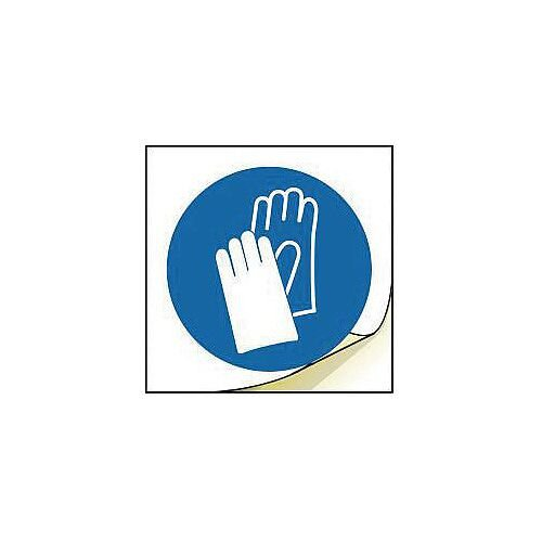 General Safety Labels Wear Hand Protection Roll of 100