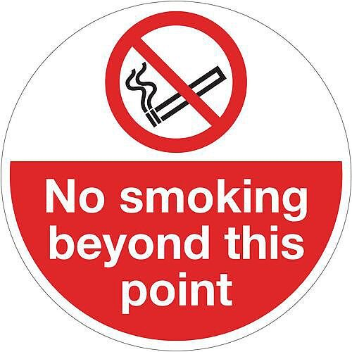 Sign No Smoking Beyond This Point 400 Dia Floor Graphic Vinyl