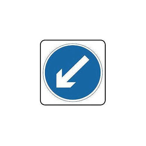 Sign Arrow Down Left 750X750 Aluminium