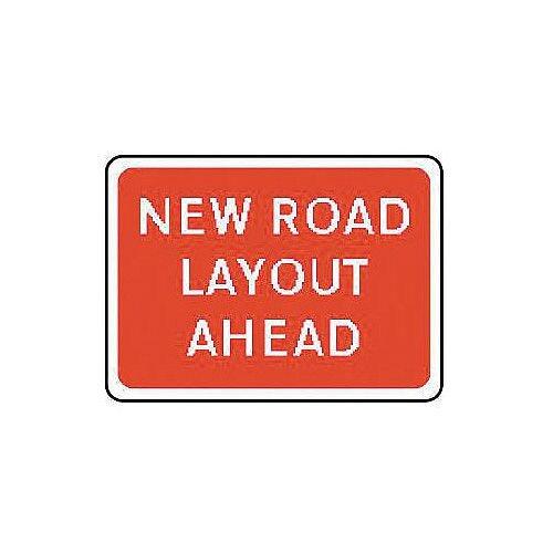 Sign New Road Layout Ahead 1050x750 Aluminium