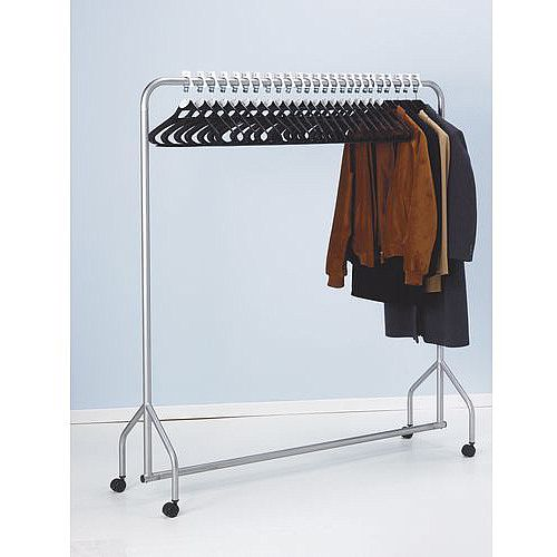 Complete Cloakroom System With Rail Hangers And Discs 33 Numbered Hangers &Discs