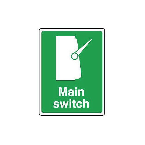 Self Adhesive Vinyl Safe Condition And First Aid Sign Main Switch