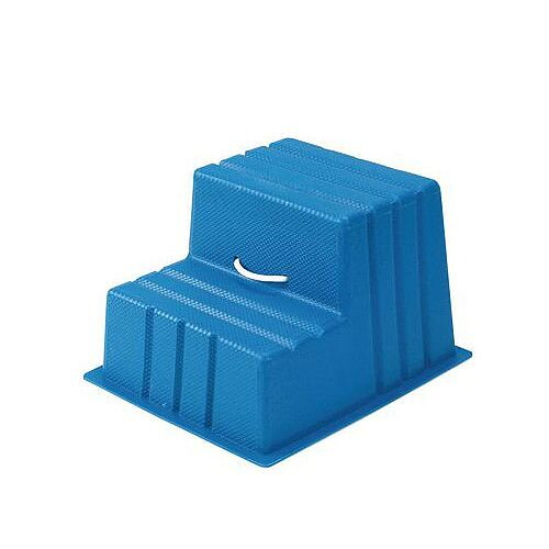 Lightweight Plastic Static Steps 2 Tread Blue