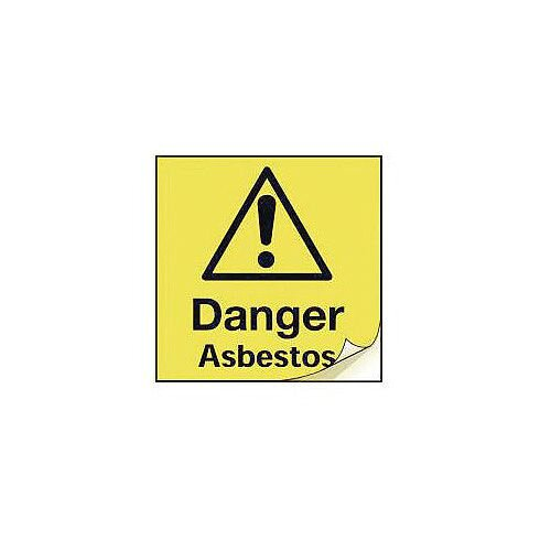 Asbestos Safety Labels Danger Asbestos Strip Of 100
